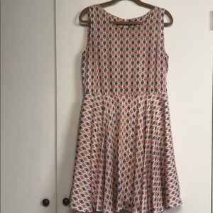 Adorable A-Line dress with fun pattern